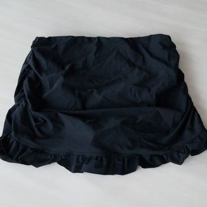 Assets by Spanx Black slimming swim skirt